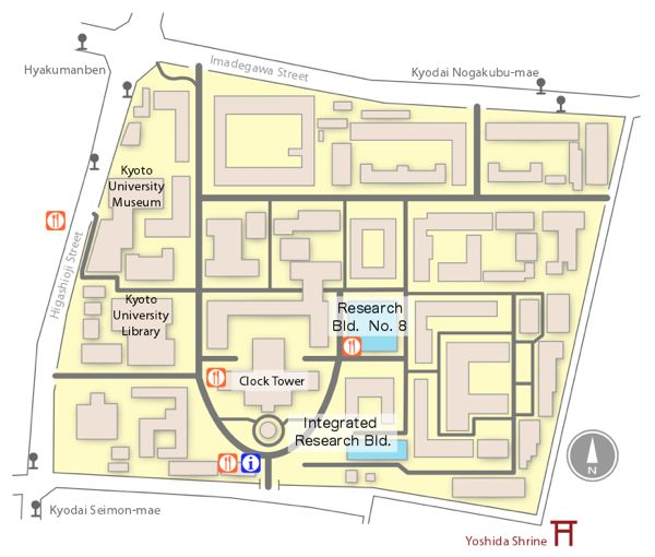 Map of Yoshida Main Campus